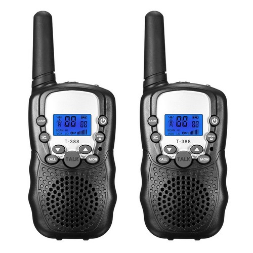 BEST WALKIE TALKIES FOR KIDS 10. FUNTOK Walkie Talkie for Kid Walkies Talkies 22 Channel Two Way Radios Long Range Outdoor Walkie Talky (Black)