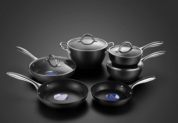 Best Non Stick Pans For Gas Stove 4. Cooksmark Diamond-Infused Nonstick Induction Safe Cookware Set