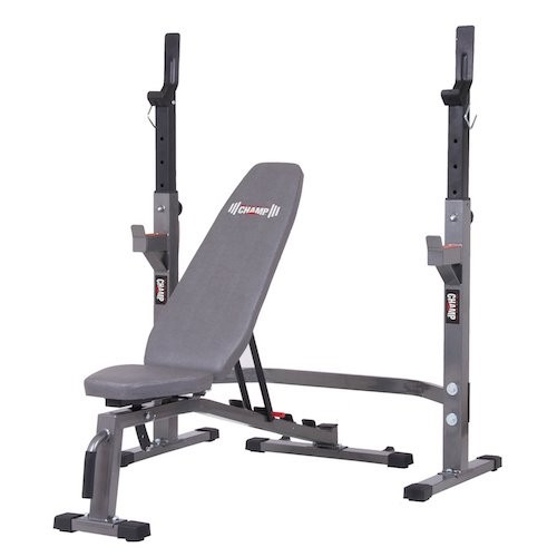 BEST WEIGHT BENCHES FOR HOME 5. Body Champ Two Piece Set Olympic Weight Bench with Squat Rack BCB3835/PRO3900