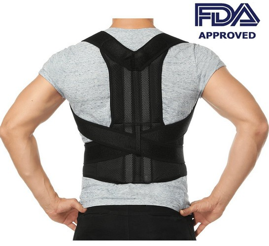 BACK BRACES FOR POSTURE 4. Comfort Posture Corrector Back Support Brace Improve Posture and Provide Lumbar Support for Lower and Upper Back Pain for Men and Women Full Adjustable Elastic Straps (27.5