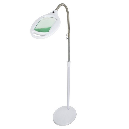 BEST READING FLOOR LAMPS 7. HomGarden Pro LED Magnifying Floor Lamp - Daylight Bright Full Spectrum Magnifier Lighted Glass Lens - Height Adjustable for Reading Task Craft Lighting