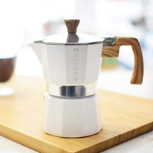 Best Stove Top Espresso Makers 4. GROSCHE Milano Moka Stovetop Espresso Coffee Maker (3 cup/5 oz, White)
