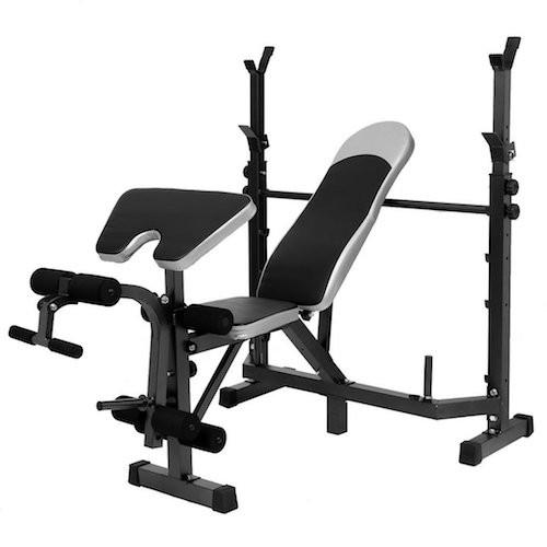 BEST WEIGHT BENCHES FOR HOME 9. Tomasar Olympic Weight Bench with Preacher Curl, Leg Developer, Multi-Functional Weight Bench Set for Indoor Exercise