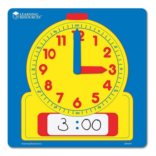 Best Educational Toys for 5-year-old 9. Learning Resources Write & Wipe Demonstration Clock