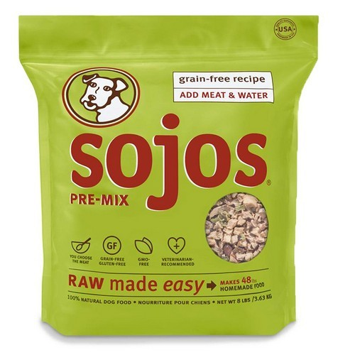 Best Grain Free Dog Food for Skin Allergies 9. Sojos Pre-Mix Natural Dry Raw Freeze Dried Dog Food