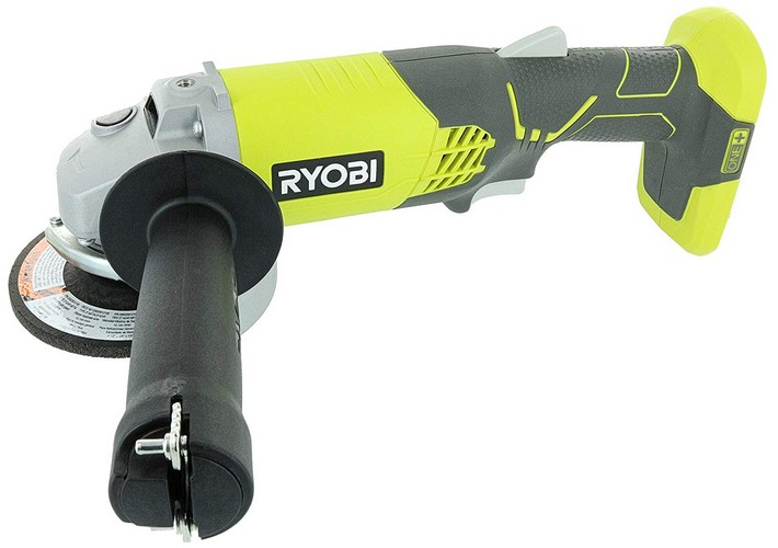 Best Cordless Angle Grinders 3. Ryobi P421 6500 RPM 4 1/2 Inch 18-Volt One+ Lithium Ion-Powered Angle Grinder