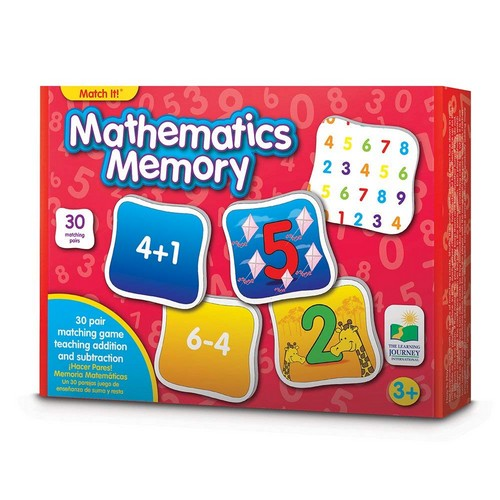 Best Educational Toys for 5-year-old 4. The Learning Journey Match It! Memory - Mathematics