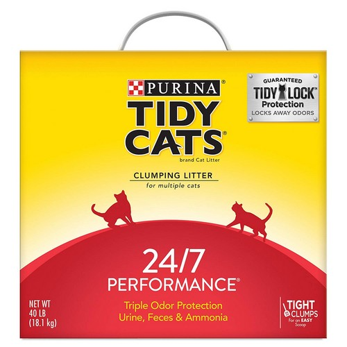 Best Clumping Cat Litters For Odor Control 6. Purina Tidy Cats 24/7 Performance Clumping Cat Litter