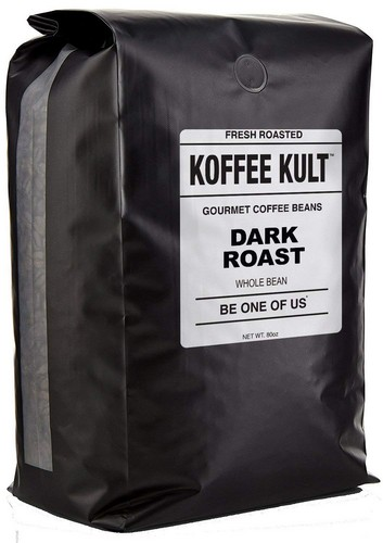 Best Budget Coffee Grinders 9. Koffee Kult DARK ROAST COFFEE BEANS (Whole Bean 5 Lbs) - Highest Quality Specialty Grade Whole Bean Coffee - Fresh Gourmet Aromatic Artisan Blend