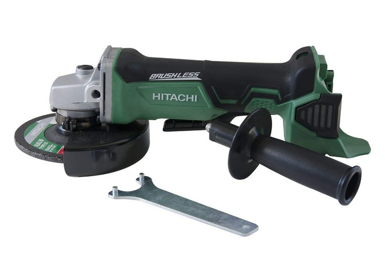 Best Cordless Angle Grinders 9. Hitachi G18DBALP4 18-Volt Lithium-Ion Brushless 4-1/2-Inch Angle Grinder