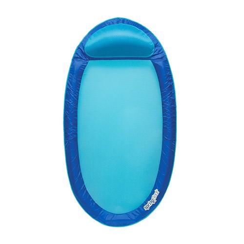 BEST POOL FLOATS FOR TANNING 7. SwimWays Original Spring Float Pool Lounger, Dark Blue / Light Blue