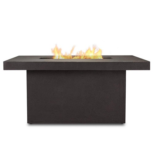 Best Propane Fire Pit Tables 7. Real Flame 9640LP-TKB Ventura Rectangle Chat Propane Fire Table, Large, Kodiak Brown