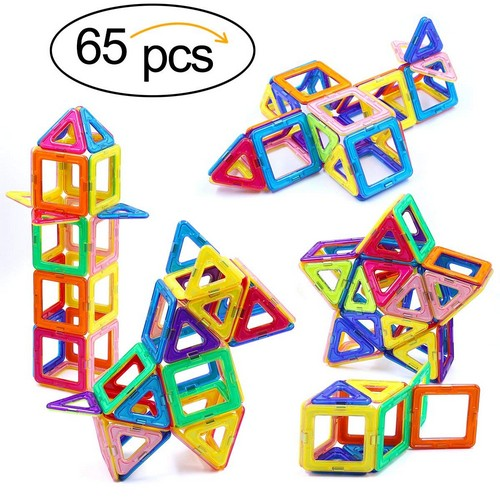 Best Educational Toys for 5-year-old 8. Ranphykx Magnetic Blocks, 65 Piece Magnetic Building Blocks Set Magnetic Tiles Educational Toys for Kids