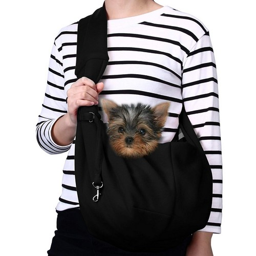 Best Dog Carrier Backpacks 8. TOMKAS Small Dog Cat Carrier Sling Hands-Free Pet Puppy Outdoor Travel Bag Tote Reversible