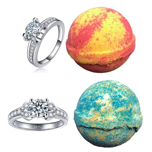 Best Bath Bombs With Rings 1. Amor Bath Bombs, 2 Ring, Large, 5 oz.