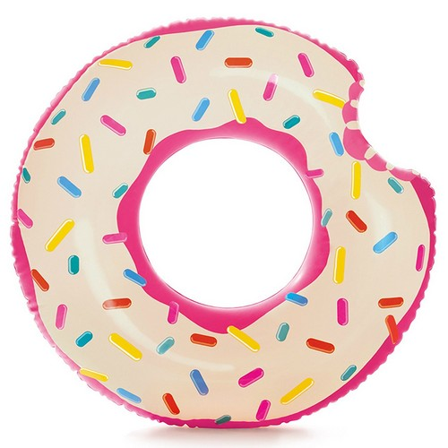 BEST POOL FLOATS FOR TANNING 9. Intex Donut Inflatable Tube, 42