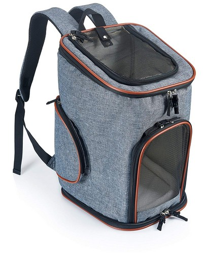 Best Dog Carrier Backpacks 10. Soft-Sided Pet Carrier Backpack for Small Dogs and Cats by Pawfect Pets