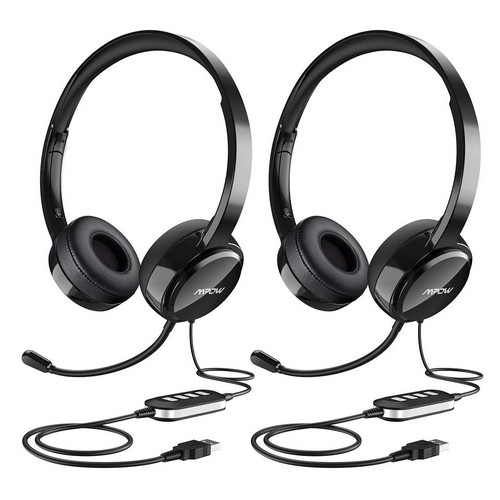 Best Noise Cancelling Headphones Under 50 5. Mpow (2-Pack) USB Headset/3.5mm Computer Headset with Microphone