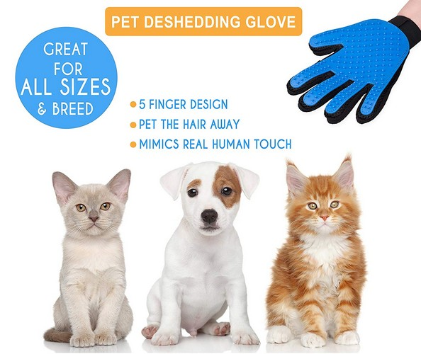 Best Cat Grooming Gloves 9. Shop Top Pets Pet Grooming Gloves By Rubber Groomer For Dogs & Cats