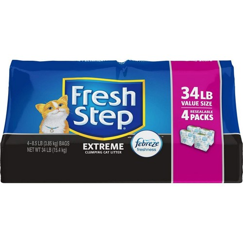 Best Clumping Cat Litters For Odor Control 7. Fresh Step Extreme with Febreze Freshness Clumping Cat Litter