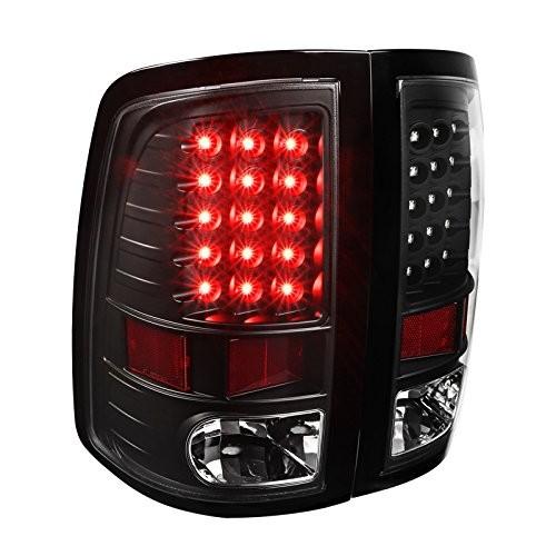 Best Dodge Ram LED Tail Lights 4. Spec-D Tuning Full Black Dodge Ram LED Tail Lights Park Brake Lamps Left+Right