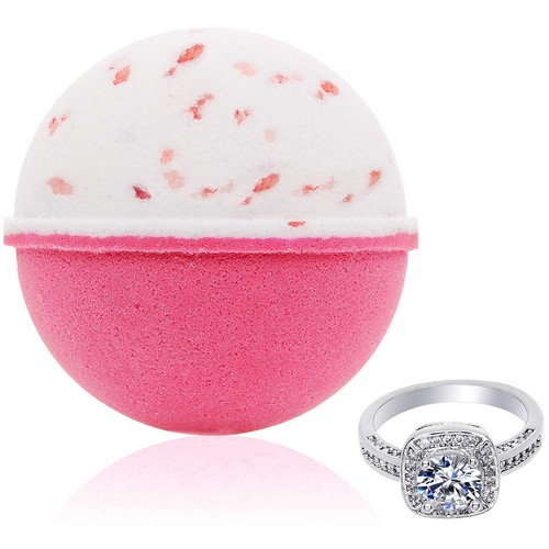 Best Bath Bombs With Rings 10. Jackpot Candles Bath Bomb with Surprise Size Ring Inside Pink Himalayan Sea Salt Extra Large 10 oz.