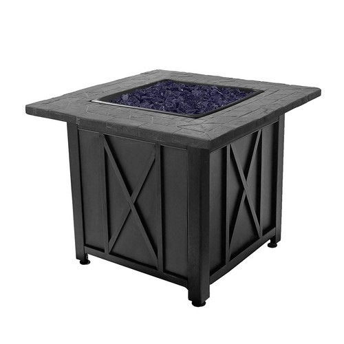 Best Fire Pits for Heat 5. Endless Summer Blue Rhino Blue Lava Rock Propane Fire Pit