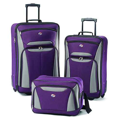 Lightweight Checked Luggages 6. American Tourister Luggage Fieldbrook II 3 Piece Set