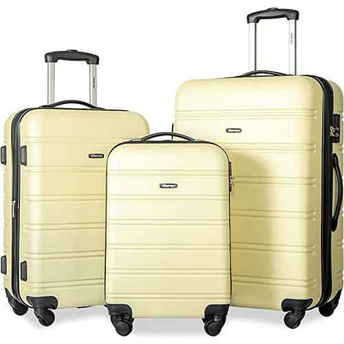 Lightweight Checked Luggages 8. Merax Travelhouse Luggage Set 3 Piece Expandable Lightweight Spinner Suitcase