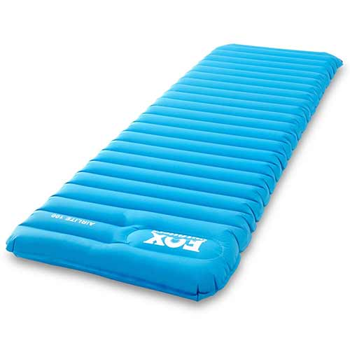 Best Air Mattress for Camping 8. Fox Outfitters Airlite Sleeping Pad for Camping, Backpacking, Hiking. Fast Inflatable Air Tube Design