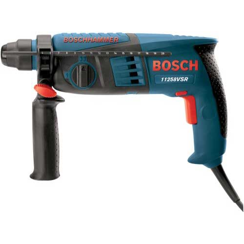 Best Cordless Rotary Hammer Drills 4. Bosch 11258VSR 4.8 Amp 5/8-Inch SDS-plus Rotary Hammer