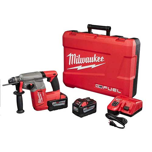 Best Cordless Rotary Hammer Drills 10. Milwaukee M18 FUEL 18-Volt Lithium-Ion Brushless 1 in. SDS-Plus Rotary Hammer High Demand 9.0Ah Kit