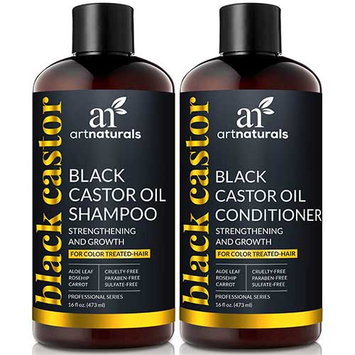 Best Dry Shampoos for Black Hair 10. ArtNaturals Black Castor-Oil Shampoo and Conditioner