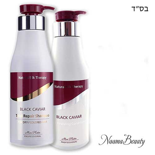 Best Dry Shampoos for Black Hair 2. Mon Platin Black Caviar Natural Silk Therapy Shampoo and Conditioner Set