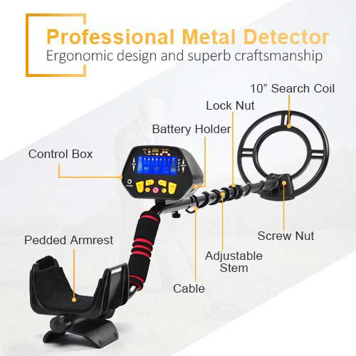 Best Metal Detectors for Gold 10. Metal Detector - High-accuracy Metal Finder