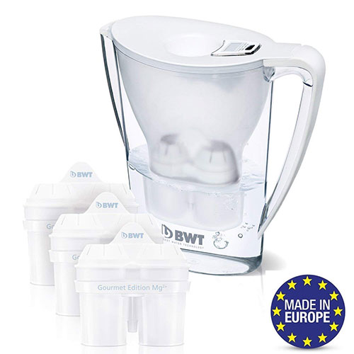 Best Alkaline Water Pitchers 8. BWT Premium Water Filter Pitcher & 3 Filters, Award Winning Austrian Quality, Technology for Superior Filtration & Taste