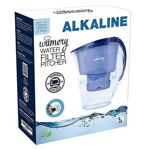 Best Alkaline Water Pitchers 7. WATER FILTER PITCHER. Certified by WQA. BPA Free. Removes hard metals and taste better — alkaline and Neutral replacements for a healthy diet. FREE Cartridge included. (Alkaline)
