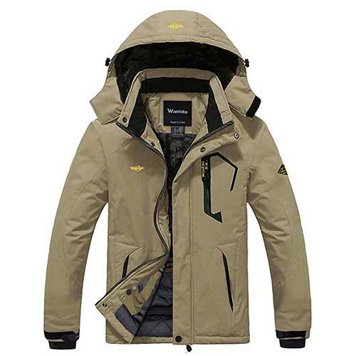 Best Ice Fishing Suits 6. Wantdo Men's Mountain Waterproof Ski Jacket Windproof Rain Jacket