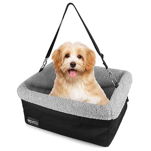 Best Dog Car Seats 10. Petlo Dog Booster Car Seat with Soft Luxurious