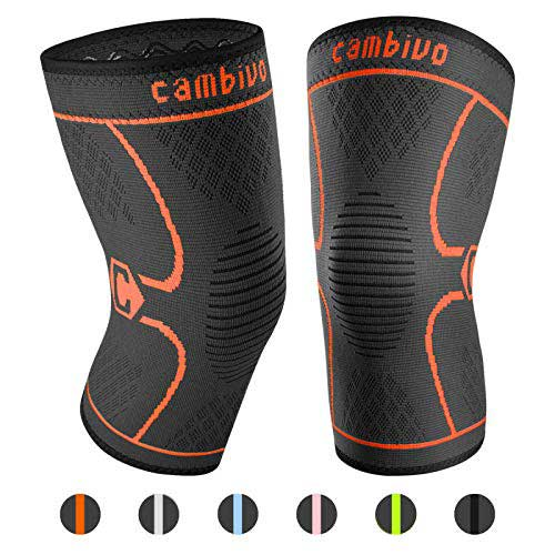 Best Knee Braces for Basketball 10. CAMBIVO 2 Pack Knee Brace, Knee Compression Sleeve Support