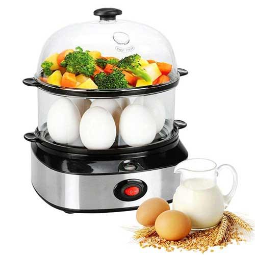 10. THYMY Egg Cooker Deluxe Steamer Egg Boiler
