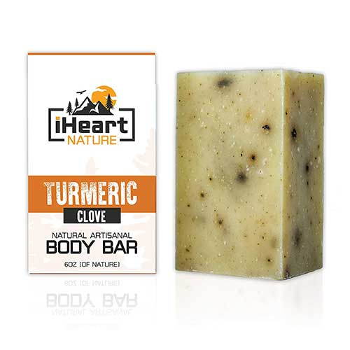 1. Turmeric Soap Bar (Large 6 Ounce) Made in USA (Beautiful Glowing Skin Brightening Lightening Whitening) by iHeart Nature