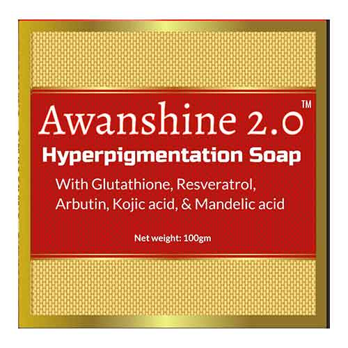7. Wanshine Hyperperpigmentation Whitening Soap with Glutathione, alpha arbutin, resveratrol, kojic acid and Mandelic acid