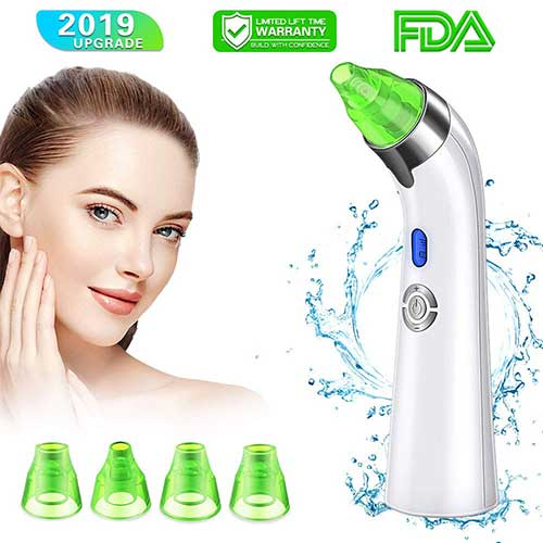10. 【New Version】 Blackhead Remover Vacuum - Facial Pore Deep Cleaner Electric Acne Comedone Extractor Kit with by SECRET TOUCH