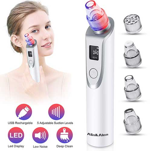 2. Blackhead Remover Vacuum - Pore Cleaner Electric Blackhead Suction Facial Comedo Acne Extractor Tool for Women & Men(02)