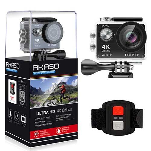 6. AKASO EK7000 4K WiFi Sports Action Camera Ultra HD Waterproof DV Camcorder 12MP 170 Degree Wide Angle