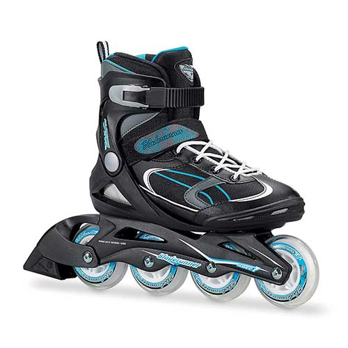 9. Bladerunner by Rollerblade Advantage Pro XT Women's Adult Fitness Inline Skate, Black and Light Blue, Inline Skates
