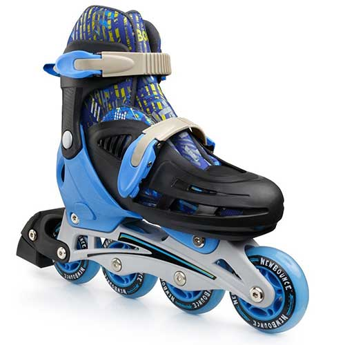 5. New Bounce Premium Roller Skate by, 4 Wheel Inline Rollerblades for Kids| Outdoor Skating for Beginners & Advanced