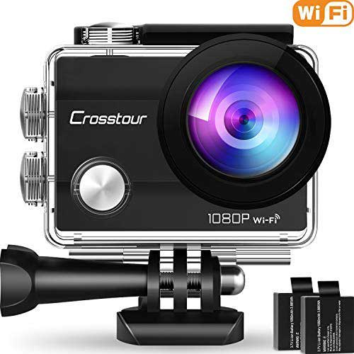 7. Crosstour Action Camera Underwater Cam WiFi 1080P Full HD 12MP Sports Camera