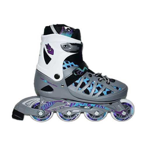 10. Blian Adult Inline Skates Rollerblades for Men/Women Large Size 8 9 10 Speed Adjustable Roller Skates Black/Silver